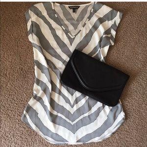 Like new express zebra blouse xs
